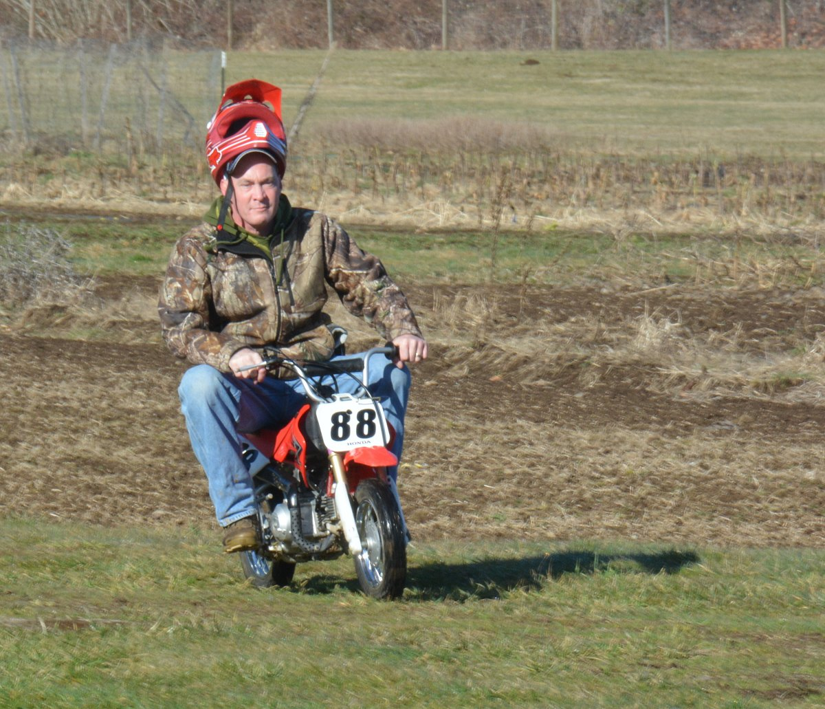 Need a bigger helmet - from the Dirt Biking with Miriam and Rodney photo gallery.