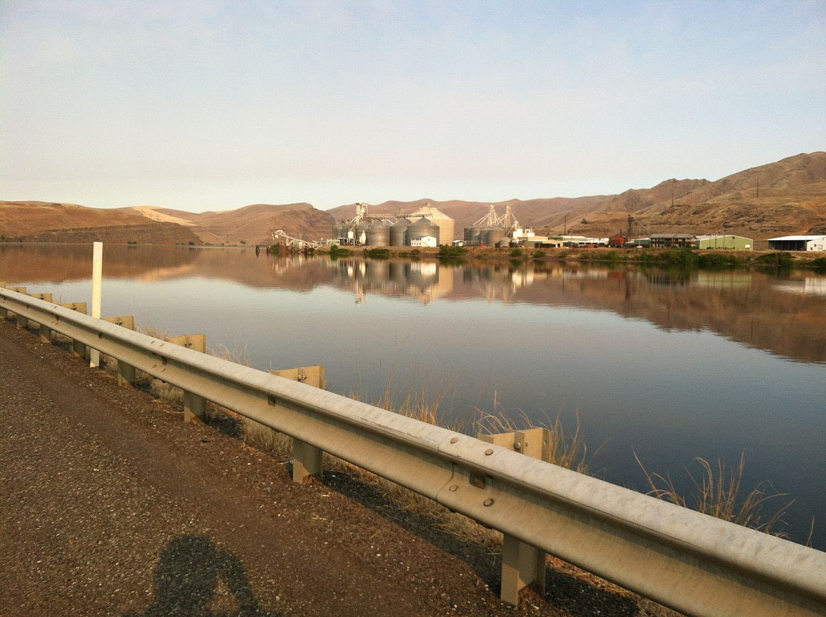 Leaving Clarkston--this is the Snake River - from the Motorcycle summer trip 2012 photo gallery.