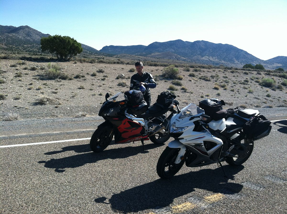 Somewhere hot in eastern Nevada, on highway 50 - from the Motorcycle summer trip 2012 photo gallery.