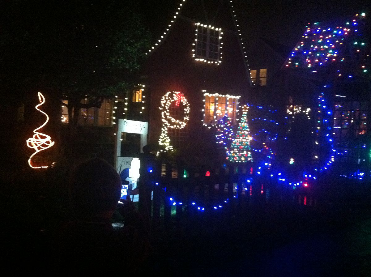 Lights, lights, and more lights - from the Peacock Lane 2012 photo gallery.