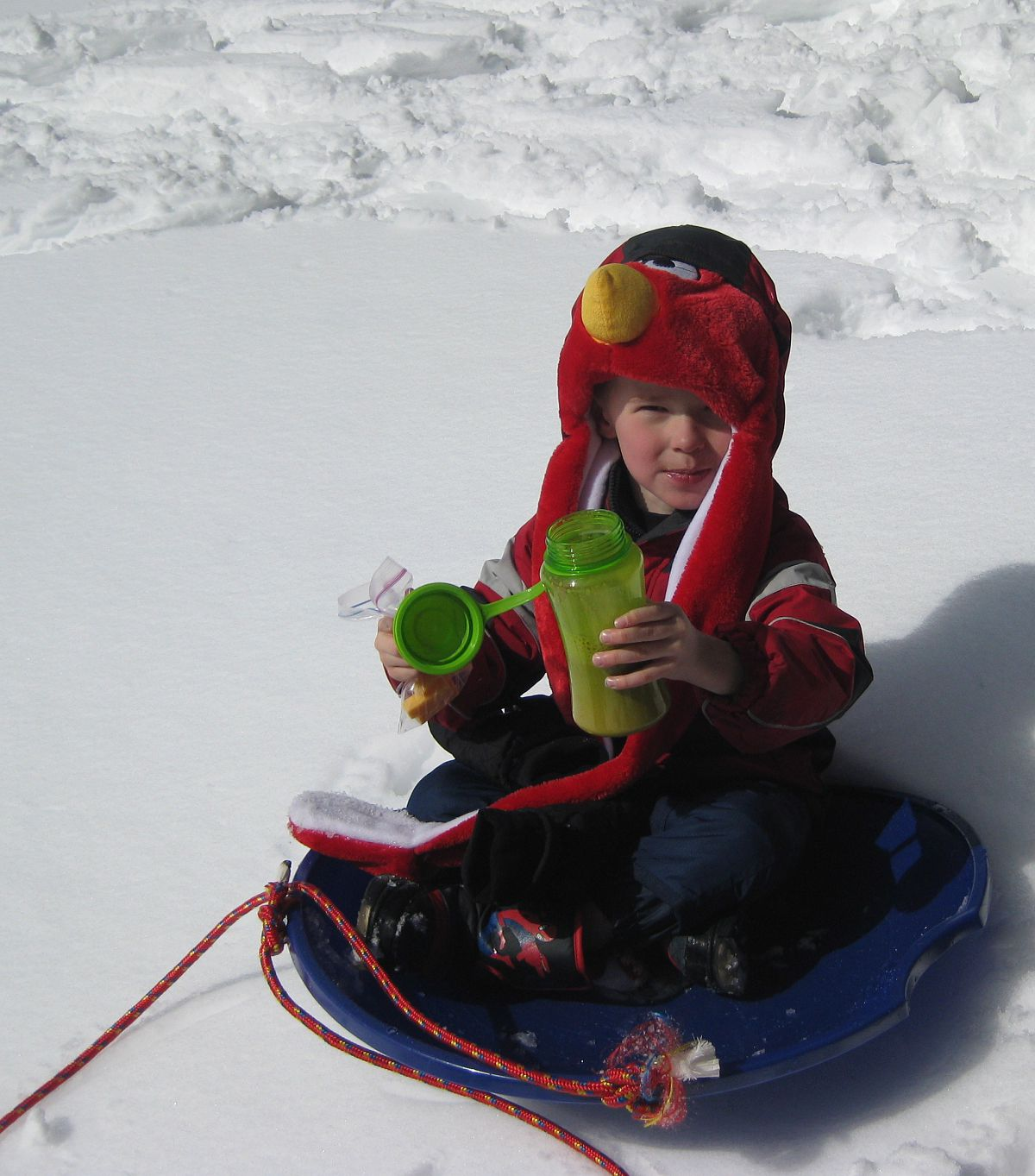 Chocolate milk, anyone? - from the Snowshoe Trip to Twin Lake 2013 photo gallery.